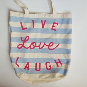 Old Navy • Live Laugh Love Canvas Tote